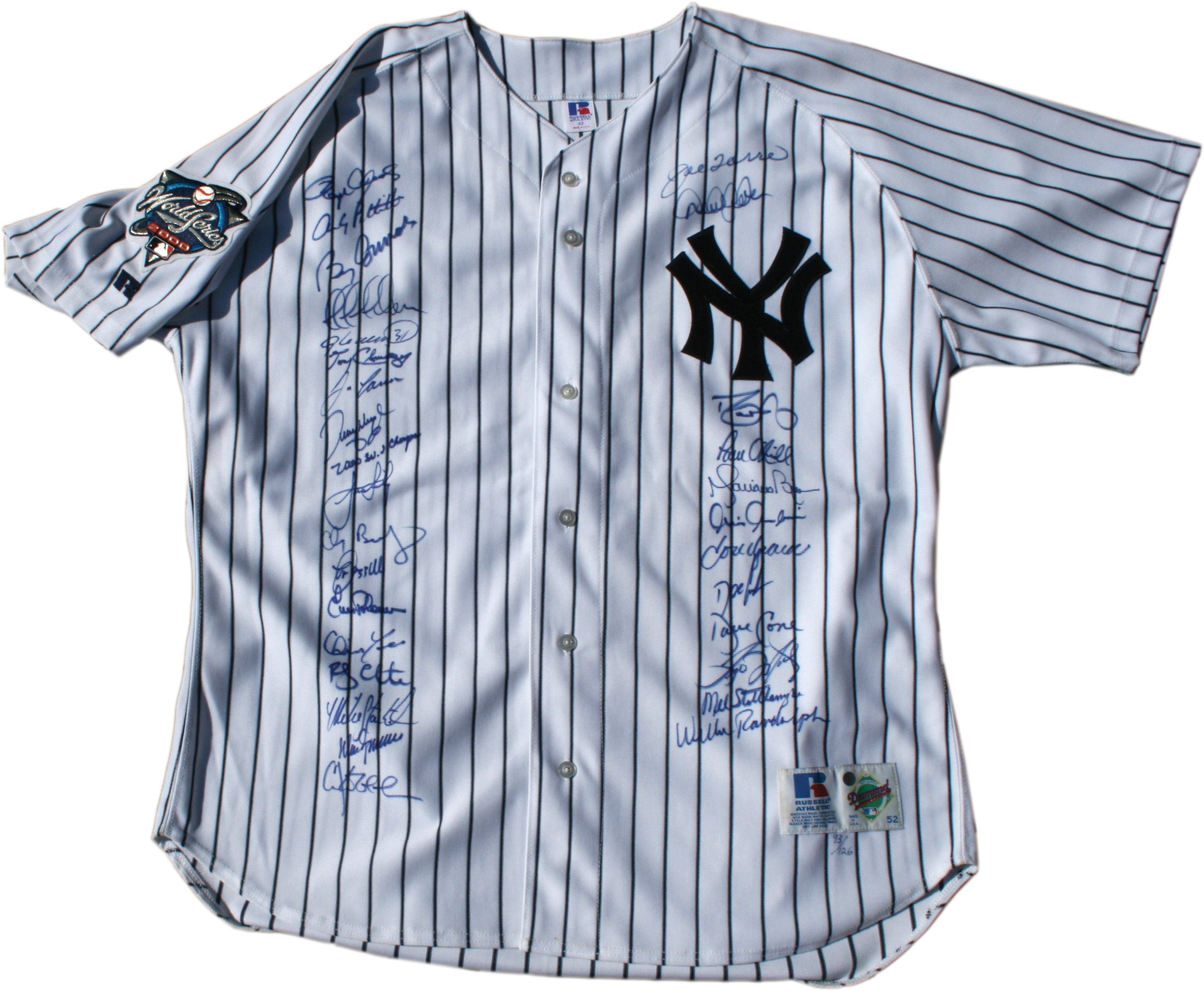 2000 World Series Champion New York Yankees Team Signed Derek Jeter Limited  Edition Jersey 93  ... afab194e5f1