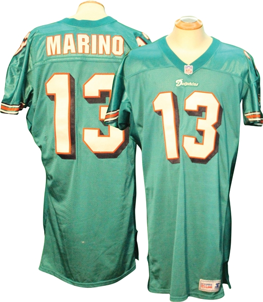 new concept 8e9dd ad0bd Lot Detail - 1997 Dan Marino Miami Dolphins Game Used Jersey