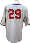 John Smoltz Autographed Game Used Atlanta Braves Turn-Back-the-Clock Jersey