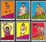 1972 Topps Basketball Complete Set (264)