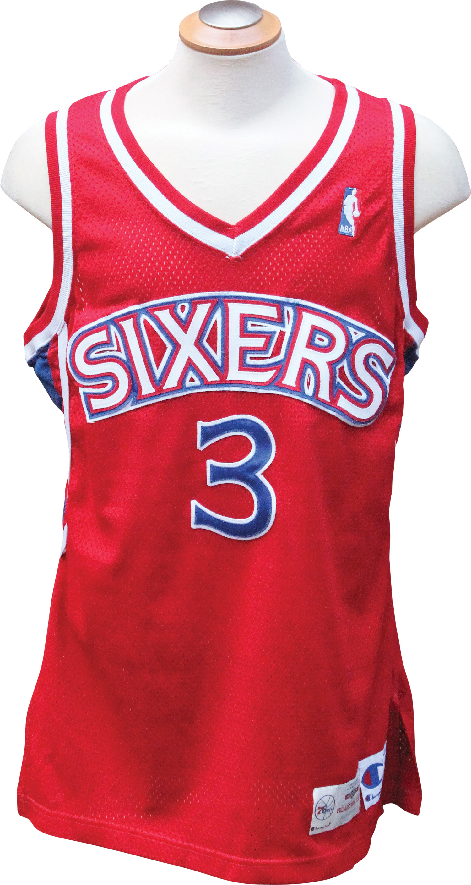 20d5ff7e 1996-97 Allen Iverson Game Used Rookie Season Philadelphia 76ers Jersey  with LOA ...