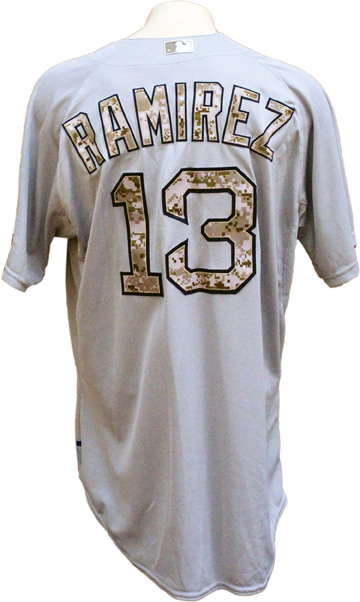 2015 Hanley Ramirez Game Used Boston Red Sox Memorial Day Jersey MLB LOA ... 29a5130d2d4
