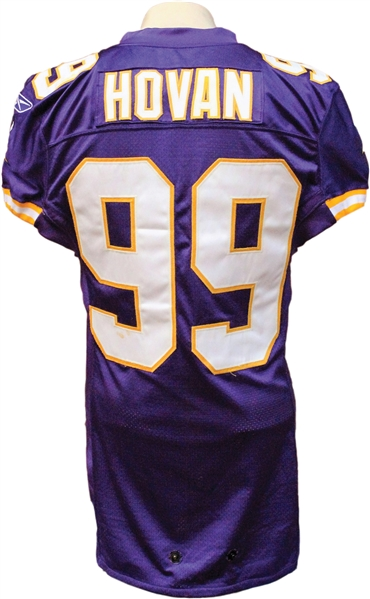 separation shoes 8a1a0 90383 Lot Detail - 2004 Chris Hovan Game Used Minnesota Vikings Jersey