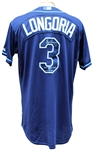 2012 EVAN LONGORIA AUTOGRAPHED GAME USED JERSEY MLB