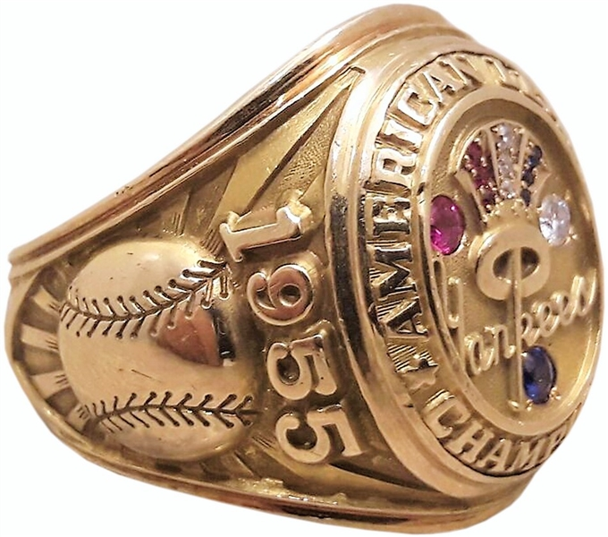 RARE 1955 JIM TURNER NEW YORK YANKEES AMERICAN LEAGUE CHAMPIONSHIP RING DAUGHTER LOA