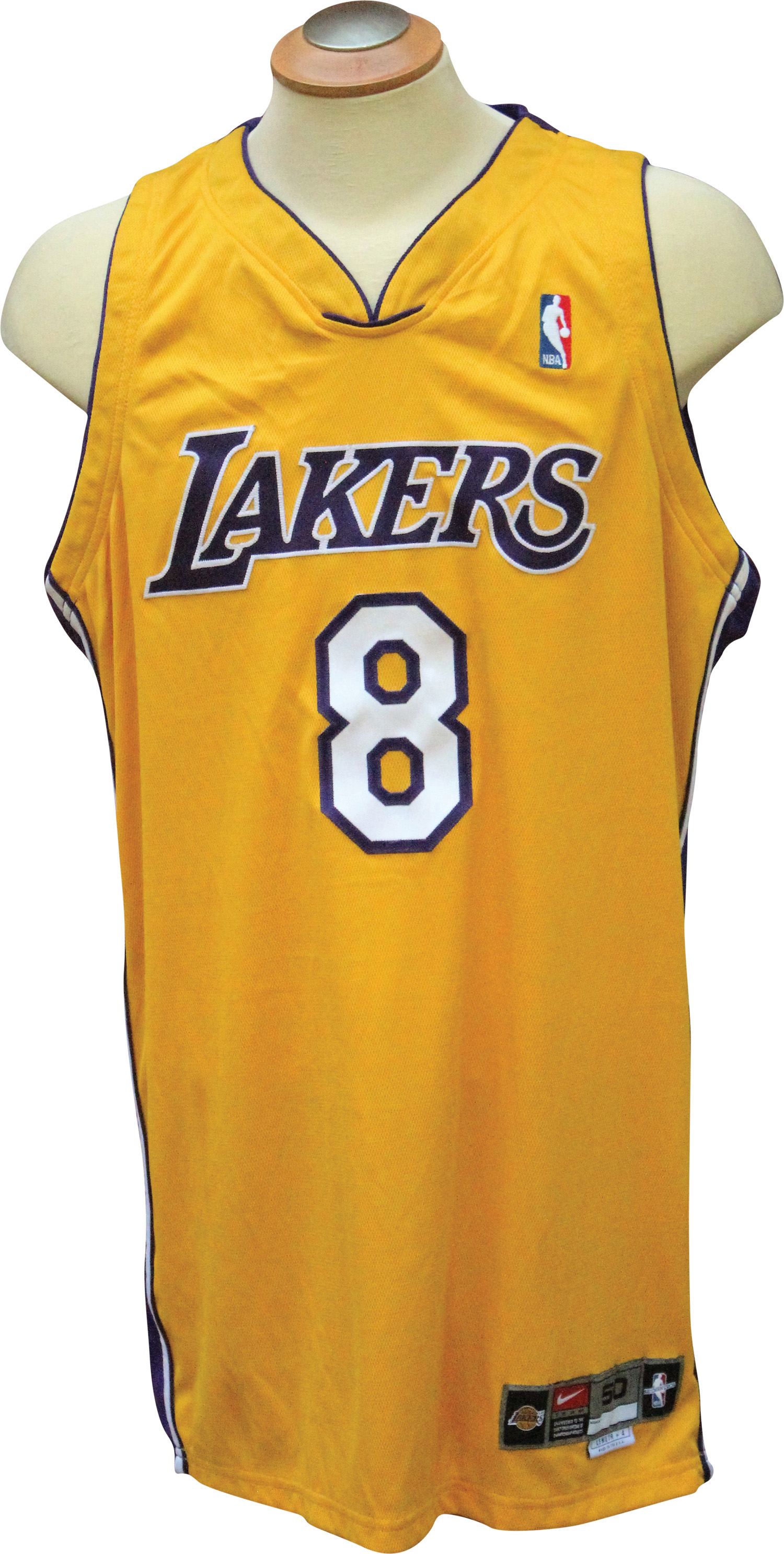 f6f120e4 ... 2000-01 KOBE BRYANT AUTOGRAPHED GAME USED LAKERS HOME UNIFORM (2) ...