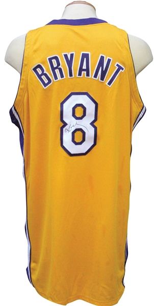 Lot Detail 2000 01 KOBE BRYANT AUTOGRAPHED GAME USED