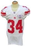 2007 DERRICK WARD GAME USED NEW YORK GIANTS INTERNATIONAL SERIES LONDON JERSEY