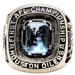 1960 LOU RYMKUS HOUSTON OILERS AMERICAN FOOTBALL LEAGUE CHAMPIONSHIP RING FAMILY LOA