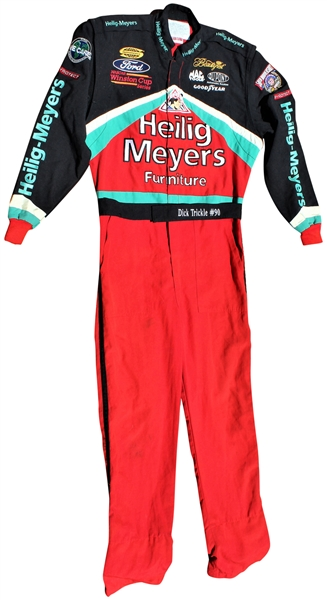 1998 DICK TRICKLE NASCAR RACE WORN SUIT