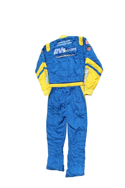CLINT BOWYER CAMPING WORLD NASCAR RACE WORN SUIT