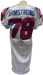 1999 BRUCE ARMSTRONG GAME USED NEW ENGLAND PATRIOTS JERSEY TEAM LOA