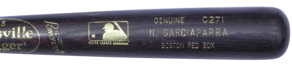 2000 NOMAR GARCIAPPARA GAME USED LOUISVILLE SLUGGER BOSTON RED SOX BAT PSA GU 10