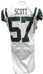 2012 BART SCOTT GAME USED NY JETS JERSEY