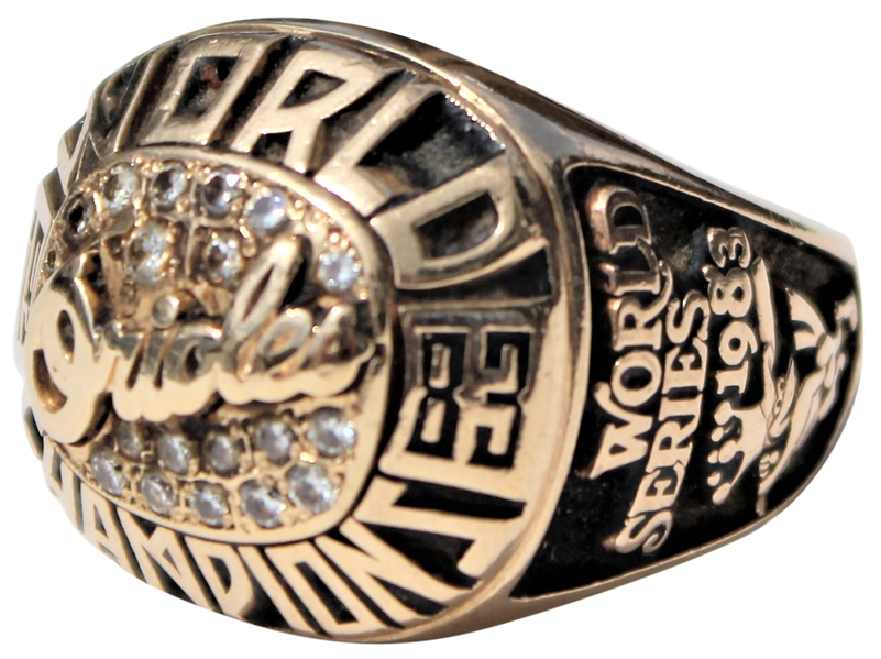 1983 LAMAR NORTH BALTIMORE ORIOLES WORLD SERIES RING