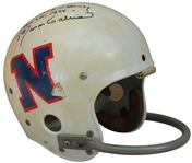 1973 ROMAN GABRIEL GAME USED AUTOGRAPHED AND INSCRIBED HELMET ALSO WORN IN 1974 PRO BOWL