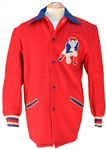 REMARKABLE CIRCA 1965 BOSTON PATRIOTS HEAVY WOOL COAT