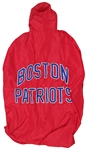 CIRCA 1965 BOSTON PATRIOTS RED SIDELINE CAPE