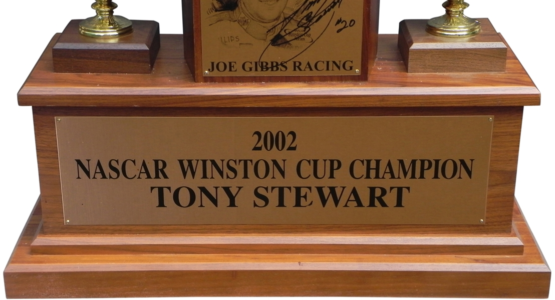 2002 TONY STEWART WINSTON CUP CHAMPIONSHIP TROPHY