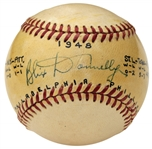 BLIX DONNELLY SINGLE SIGNED NL FRICK BASEBALL – 1950 PHILLIES – CARDINALS