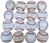 36 SINGLE SIGNED BASEBALL COLLECTION