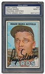 1967 ROGER MARIS SIGNED TOPPS CARD