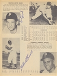 1955 PITTSBURG PIRATES SIGNED YEARBOOK WITH ROOKIE CLEMENTE SIGNATURE