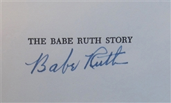 "BABE RUTH SIGNED ""THE BABE RUTH STORY"" BOOK"