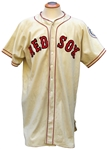 1949 ELLIS KINDER BOSTON RED SOX GAME USED JERSEY