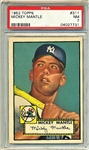 1952 TOPPS MICKEY MANTLE ROOKIE CARD PSA 7