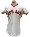 1974 RICO PETROCELLI SIGNED BOSTON RED SOX GAME USED JERSEY