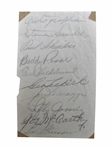 1940 NY YANKEES SIGNED TEAM SHEET WITH McCARTHY AND DiMAGGIO