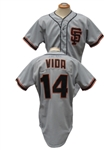 1985 VIDA BLUE SIGNED AND ATLEE HAMMAKER SAN FRANCISCO GIANTS GAME USED JERSEY