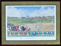 THE NATIONAL PASTIME PRINT BY PEREZ-STEELE ARTIST DICK PEREZ