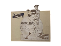 RARE 1949 EARL TORGESON DIE-CUT BOSTON BRAVES COUNTER DISPLAY WITH ENVELOPE