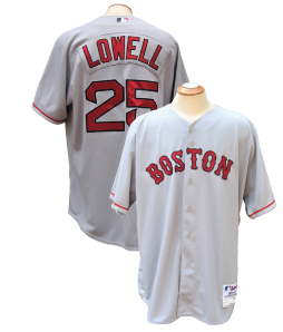bc66ba24f Lot Detail - 2008 MIKE LOWELL BOSTON RED SOX GAME USED JERSEY