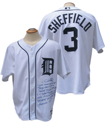 2007 GARY SHEFFIELD SIGNED ACTUAL 475TH HR GAME USED JERSEY PASSING MUSIAL AND STARGELL ON ALL-TIME HR LIST