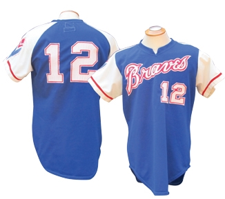 new product 9c5d0 63d94 Lot Detail - 1974 DUSTY BAKER ATLANTA BRAVES GAME USED JERSEY