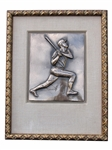 "FRAMED BRONZE PLAQUE GIVEN TO MICKEY MANTLE ON ""MANTLE DAY"""