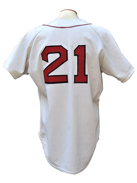 1985 ROGER CLEMENS BOSTON RED SOX GAME USED JERSEY