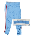 1980 MIKE SCHMIDT PHILADELPHIA PHILLIES WORLD SERIES SEASON GAME USED PANTS