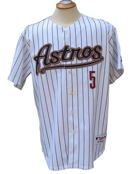 2000 JEFF BAGWELL SIGNED HOUSTON ASTROS GAME USED JERSEY