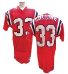 CIRCA 1980s TONY COLLINS NEW ENGLAND PATRIOTS GAME USED JERSEY