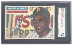 1956 TOPPS #33 ROBERTO CLEMENTE TRADING CARD SGC GRADED 84 NM 7