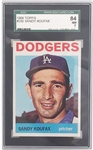 1964 TOPPS #200 SANDY KOUFAX TRADING CARD SGC GRADED 84 NM 7