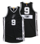 12/25/2014 TONY PARKER SAN ANTONIO SPURS GAME ISSUED CHRISTMAS DAY JERSEY