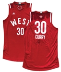 2016 STEPHEN CURRY WEST ALL-STARS SIGNED GAME ISSUED JERSEY STEINER