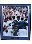 1998 NEW YORK YANKEES LIMITED EDITION OVERSIZED TEAM SIGNED DAVID WELLS PERFECT GAME PHOTOGRAPH