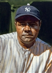 ORIGINAL 1924 BABE RUTH PAINTING BY SPORTS ARTIST CRAIG KREINDLER