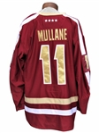 PAT MULLANE GAME USED AND WORN 2011 BOSTON COLLEGE EAGLES HOCKEY JERSEY